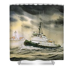 Tugboat Agnes Foss Shower Curtain by James Williamson