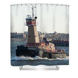 Tugboat Dace Reinauer Shower Curtain