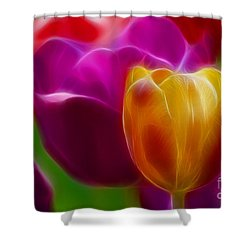 Tulip-7011-fractal Shower Curtain by Gary Gingrich Galleries