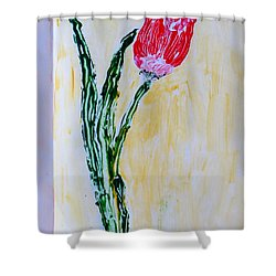 Tulip For You Shower Curtain by Sonali Gangane