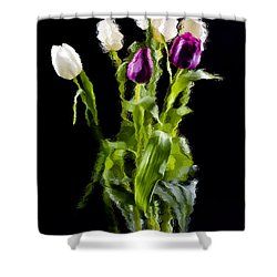 Tulip Impressions II Shower Curtain by Penny Lisowski