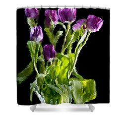 Tulip Impressions Vi Shower Curtain by Penny Lisowski