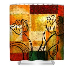 Tulip Shower Curtain by Leon Zernitsky