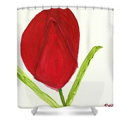 Shower Curtain featuring the painting Tulip Of The Heart by Tracey Williams