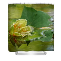 Tulip Tree Flower Shower Curtain