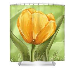 Tulip Shower Curtain by Veronica Minozzi