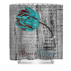 Tulip - Vivre Et Aimer S12ab4t Shower Curtain by Variance Collections