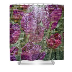 Tulip Waterfalls Shower Curtain by Penny Lisowski