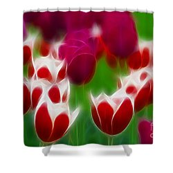 Tulips-6848-fractal Shower Curtain by Gary Gingrich Galleries