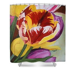 Tulips Shower Curtain by Claudia Goodell