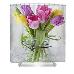 Tulips In A Jar Shower Curtain