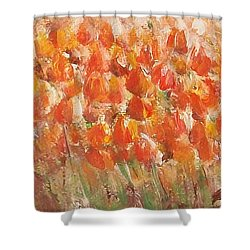 Tulips Shower Curtain by Jane  See