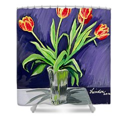 Tulips On The Table Shower Curtain