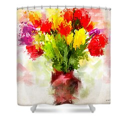 Tulips With Love Shower Curtain by Lourry Legarde