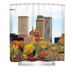 Tulsa Oklahoma In Autumn Shower Curtain