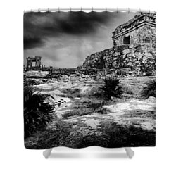 Tulum Ruin Shower Curtain