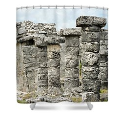 Shower Curtain featuring the photograph Tulum by Silvia Bruno