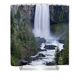 Tumalo Falls Shower Curtain
