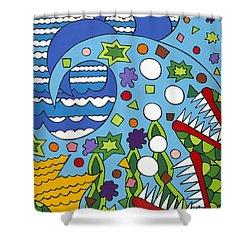 Tumbled Shower Curtain by Rojax Art