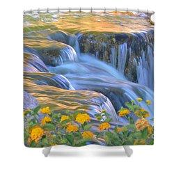 Tumbling Waters Shower Curtain by Deb Halloran