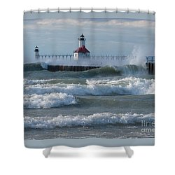 Tumultuous Lake Shower Curtain by Ann Horn