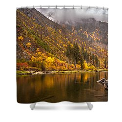 Tumwater Canyon Fall Serenity Shower Curtain by Mike Reid