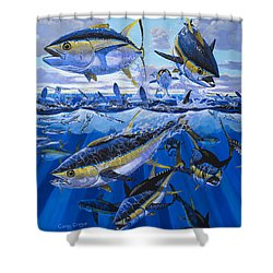 Tuna Rampage Off0018 Shower Curtain by Carey Chen