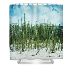 Tundra Forest Shower Curtain by Priska Wettstein