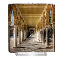 Shower Curtain featuring the photograph Tunisian Arches / Monastir by Barry O Carroll