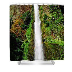 Tunnel Falls   Shower Curtain by Jeff Swan