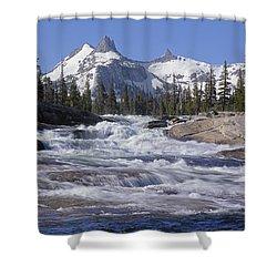 6m6539-tuolumne River  Shower Curtain