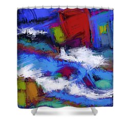 Turbulence Shower Curtain by Keith Mills