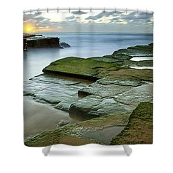 Turimetta Beach Sunrise Shower Curtain