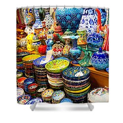 Turkish Ceramic Pottery 1 Shower Curtain