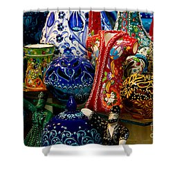 Turkish Ceramic Pottery 2 Shower Curtain