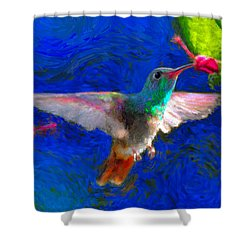 Da052 Turkscap Hummingbird  Shower Curtain