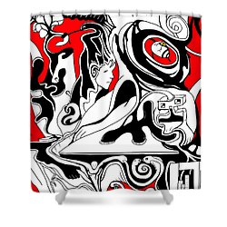 Turmoil Shower Curtain