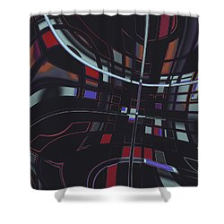 Shower Curtain featuring the digital art Turmoil by Judi Suni Hall