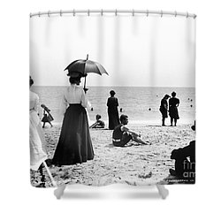 Turn Of The Century Palm Beach Shower Curtain by LOC Science Source