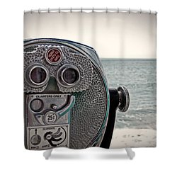 Turn To Clear The Ocean Shower Curtain by Tom Gari Gallery-Three-Photography
