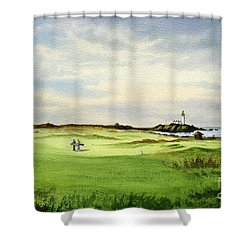 Turnberry Golf Course Scotland 12th Tee Shower Curtain by Bill Holkham