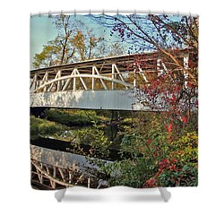 Shower Curtain featuring the photograph Turner's Covered Bridge by Suzanne Stout
