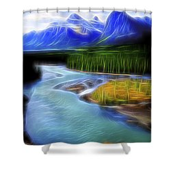 Turquoise Light 1 Shower Curtain by William Horden