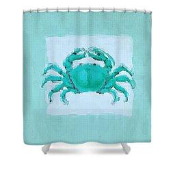 Turquoise Seashells I Shower Curtain by Lourry Legarde