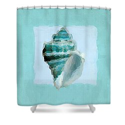 Turquoise Seashells Viii Shower Curtain by Lourry Legarde