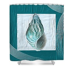 Turquoise Seashells Xx Shower Curtain by Lourry Legarde