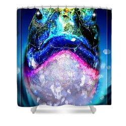 Shower Curtain featuring the digital art Turtle by Daniel Janda