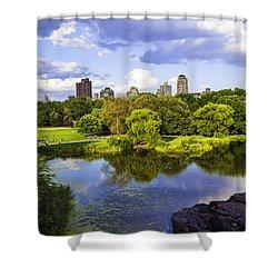 Vista Rock View 2  - Central Park - Manhattan Shower Curtain