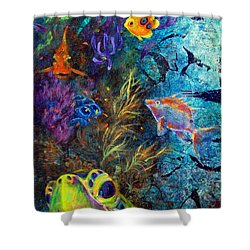 Turtle Wall 3 Shower Curtain