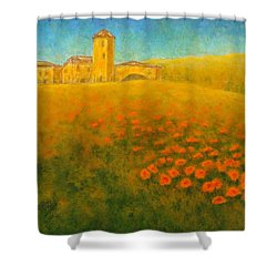 Tuscan Gold 1 Shower Curtain by Pamela Allegretto